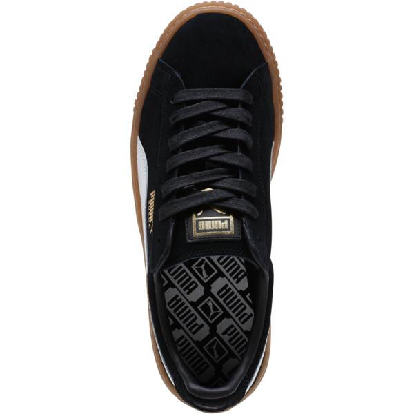 Suede Platform Core Women's Sneakers, Puma Black-Puma White, large