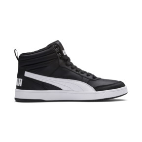 Thumbnail 5 of Rebound Street v2 Fur High Tops, Puma Black-Puma White, medium