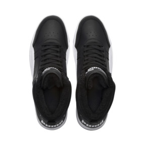 Thumbnail 6 of Rebound Street v2 Fur High Tops, Puma Black-Puma White, medium