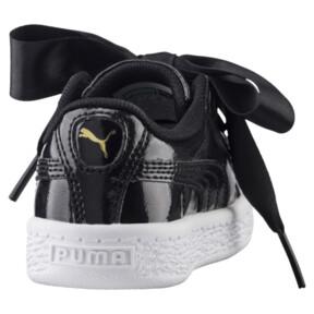 Thumbnail 4 of Basket Heart Glam Preschool Sneakers, Puma Black-Puma Black, medium