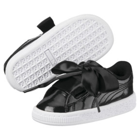 Thumbnail 2 of Basket Heart Glam Preschool Sneakers, Puma Black-Puma Black, medium