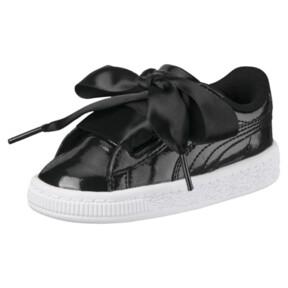 Thumbnail 1 of Basket Heart Glam Preschool Sneakers, Puma Black-Puma Black, medium