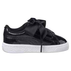 Thumbnail 3 of Basket Heart Glam Preschool Sneakers, Puma Black-Puma Black, medium
