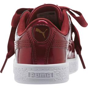 Thumbnail 4 of Basket Heart Glam Preschool Sneakers, Tibetan Red-Tibetan Red, medium