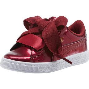 Thumbnail 1 of Basket Heart Glam Preschool Sneakers, Tibetan Red-Tibetan Red, medium