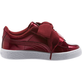 Thumbnail 3 of Basket Heart Glam Preschool Sneakers, Tibetan Red-Tibetan Red, medium