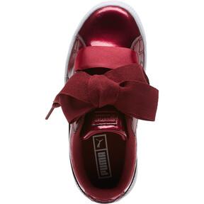 Thumbnail 5 of Basket Heart Glam Preschool Sneakers, Tibetan Red-Tibetan Red, medium