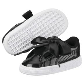 Thumbnail 2 of Basket Heart Glam Girls' Sneakers, Puma Black-Puma Black, medium