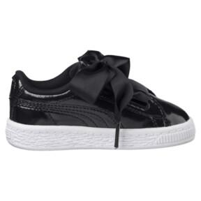 Thumbnail 3 of Basket Heart Glam Girls' Sneakers, Puma Black-Puma Black, medium