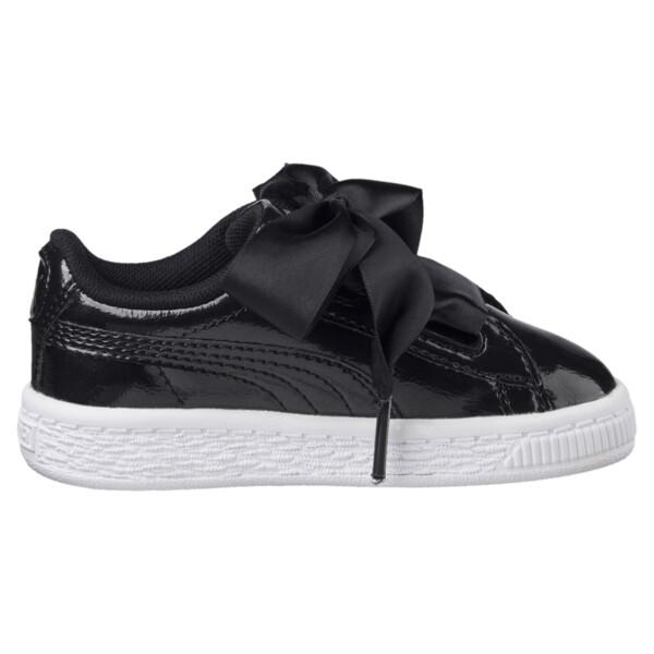 Basket Heart Glam Girls' Sneakers, Puma Black-Puma Black, large