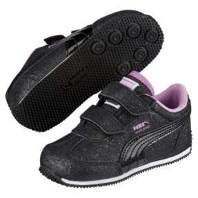 Thumbnail 2 of Whirlwind Glitz V Little Kids' Shoes, Puma Black-Orchid, medium