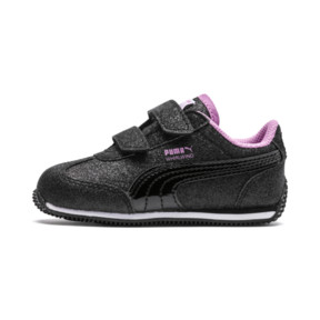 Thumbnail 1 of Whirlwind Glitz V Little Kids' Shoes, Puma Black-Orchid, medium