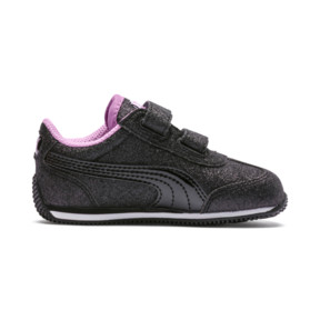 Thumbnail 5 of Whirlwind Glitz V Little Kids' Shoes, Puma Black-Orchid, medium