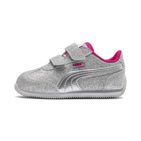 Thumbnail 1 of Whirlwind Glitz V Preschool Sneakers, Silver-Beetroot Purple-Gray, medium