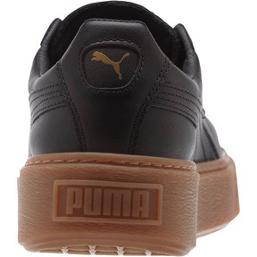 Thumbnail 4 of Basket Platform Core Women's Sneakers, Puma Black-Puma Black, medium