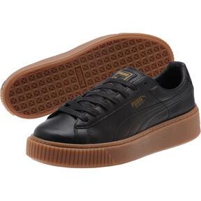 Thumbnail 2 of Basket Platform Core Women's Sneakers, Puma Black-Puma Black, medium