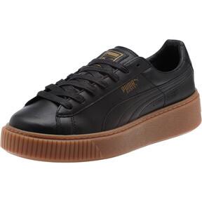 Thumbnail 1 of Basket Platform Core Women's Sneakers, Puma Black-Puma Black, medium