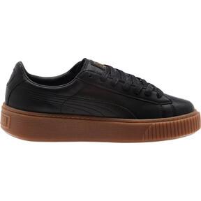 Thumbnail 3 of Basket Platform Core Women's Sneakers, Puma Black-Puma Black, medium