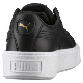 Thumbnail 4 of Basket Platform Core Women's Trainers, Puma Black-Gold, medium