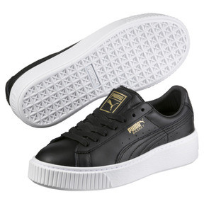 Thumbnail 2 of Basket Platform Core Women's Trainers, Puma Black-Gold, medium