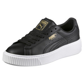 Thumbnail 1 of Basket Platform Core Damen Sneaker, Puma Black-Gold, medium