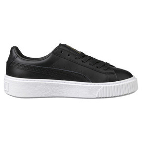Thumbnail 3 of Basket Platform Core Women's Trainers, Puma Black-Gold, medium