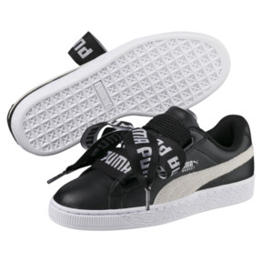 Thumbnail 2 of Basket Heart DE Women's Sneakers, Puma Black-Puma White, medium
