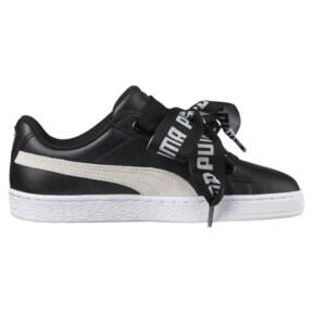 Thumbnail 3 of Basket Heart DE Women's Sneakers, Puma Black-Puma White, medium