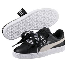 Thumbnail 6 of Basket Heart DE Women's Sneakers, Puma Black-Puma White, medium