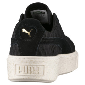 Thumbnail 4 of Basket Platform Women's Sneakers, PBlack-PBlack-Whisper White, medium