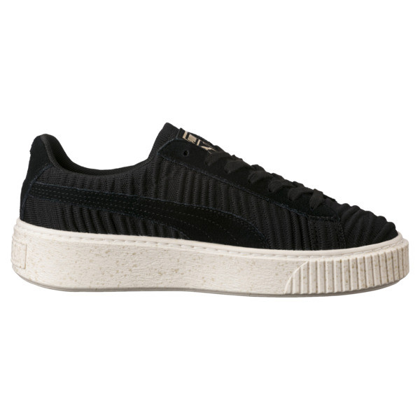 Basket Platform Women's Sneakers, PBlack-PBlack-Whisper White, large