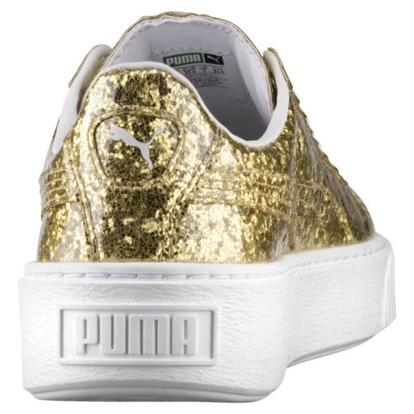 Basket Platform Glitter Women's Sneakers, 02, large