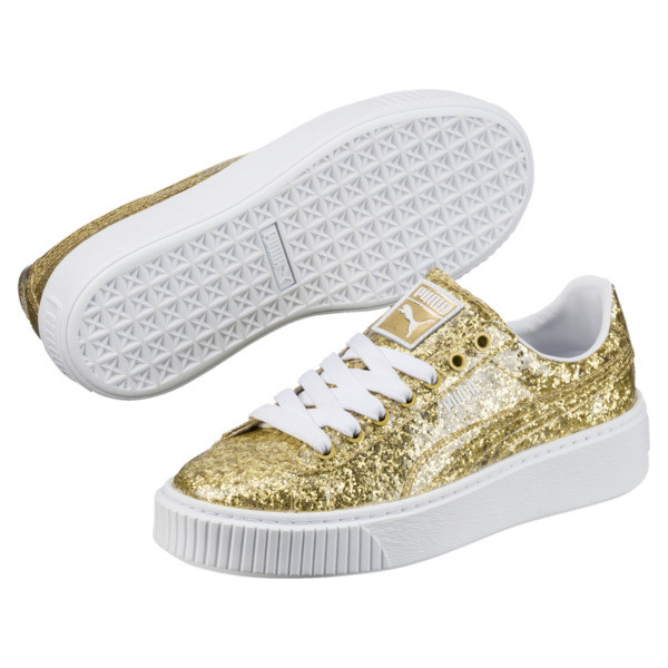 Shoes Platform SneakersPuma United Basket Glitter Women's E29HDIW