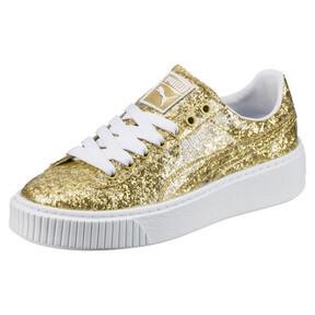 Thumbnail 1 of Basket Platform Glitter Women's Sneakers, 02, medium