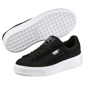 Thumbnail 2 of Basket Platform DE Women's Sneakers, Puma Black-Puma Black, medium