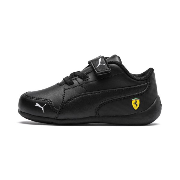 Ferrari Drift Cat 7 V Kids' Trainers, Puma Black-Puma Black, large