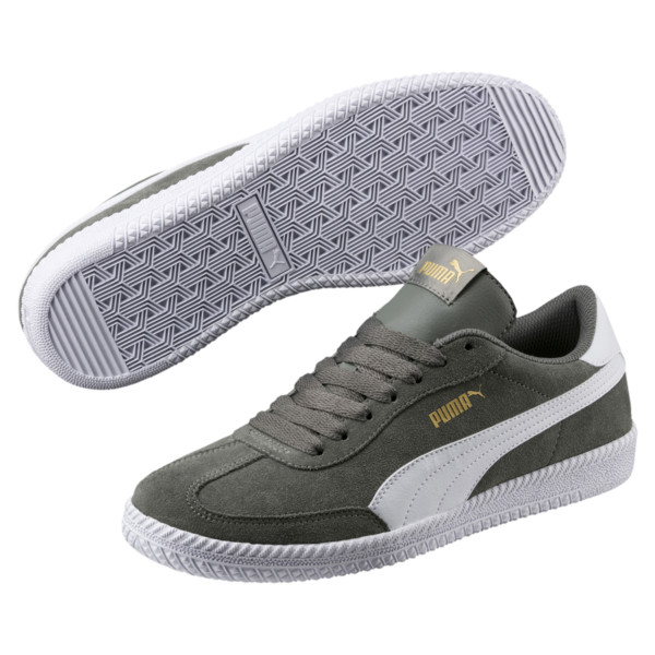 Astro Cup Suede Sneaker, Castor Gray-Puma White, large