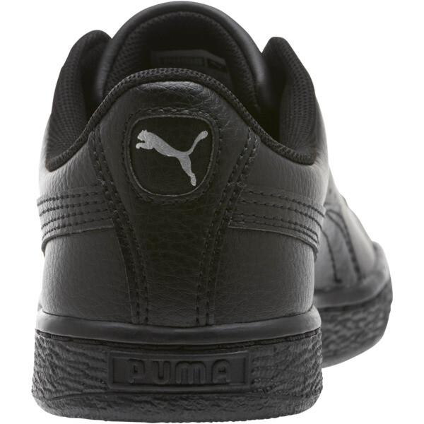 Zapatos deportivos clásicos Basket JR, Puma Black-Puma Black, grande