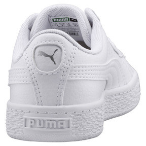 Thumbnail 3 of Basket Classic Kids' Trainers, Puma White-Puma White, medium