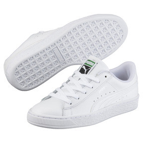 Thumbnail 2 of Basket Classic Kids' Trainers, Puma White-Puma White, medium