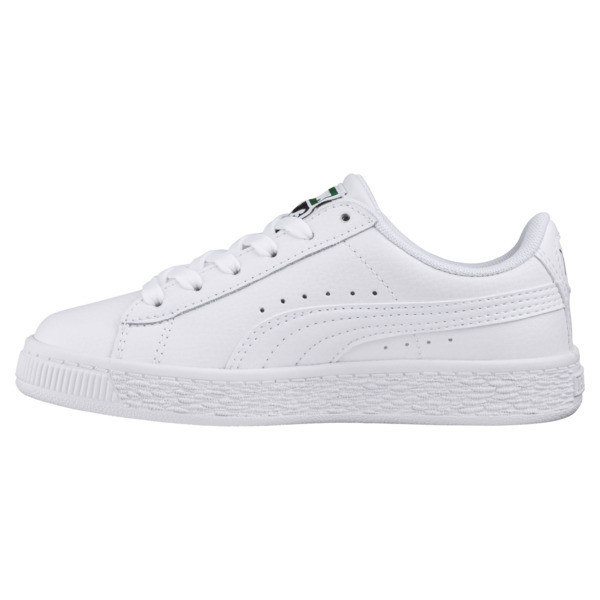 puma basket white shoes