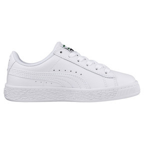 Thumbnail 4 of Basket Classic Kids' Trainers, Puma White-Puma White, medium