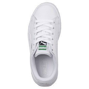 Thumbnail 5 of Basket Classic Kids' Trainers, Puma White-Puma White, medium