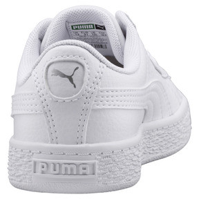 Thumbnail 3 of Basket Classic Sneakers PS, Puma White-Puma White, medium