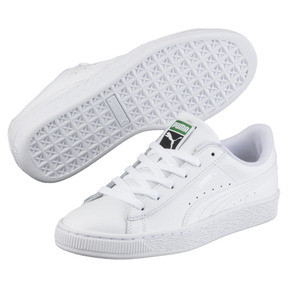 Thumbnail 2 of Basket Classic Sneakers PS, Puma White-Puma White, medium