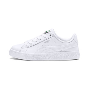 Thumbnail 1 of Basket Classic Kids' Trainers, Puma White-Puma White, medium