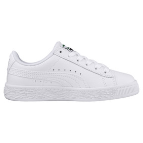 Thumbnail 4 of Basket Classic Sneakers PS, Puma White-Puma White, medium