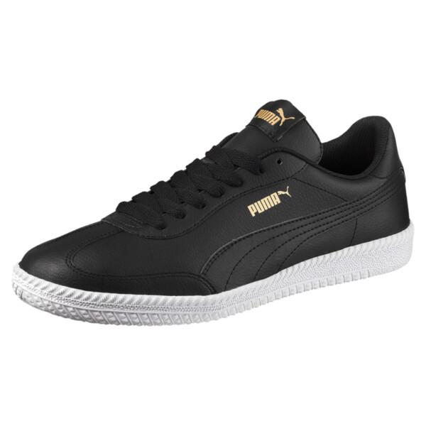 Astro Cup Leather Trainers, Puma Black-Puma Black, large