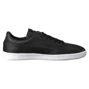 Thumbnail 3 of Astro Cup Leather Trainers, Puma Black-Puma Black, medium