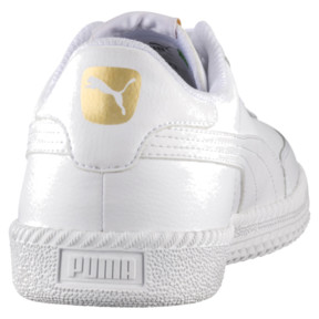 Thumbnail 4 of Astro Cup Leather Trainers, Puma White-Puma White, medium